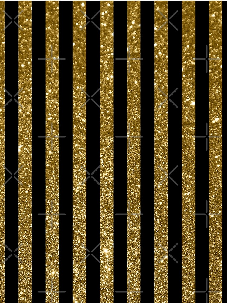 Black and Golden Glitter Vintage Stripes by GersonRamos