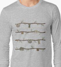 Camiseta de manga larga perezosos
