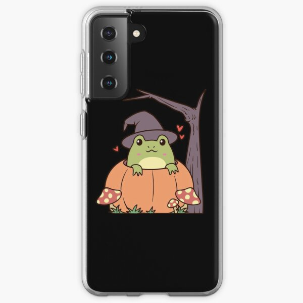 Cottagecore Aesthetic Frog with Witch Hat  Samsung Galaxy Soft Case