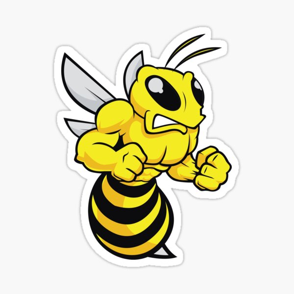 BEE BUMBLEBEE ANGRY HORNET WASP Sticker