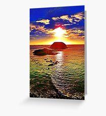 Nobbies Sunset Phosphoresence Greeting Card
