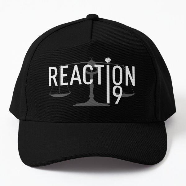 Reaction19 black background Baseball Cap