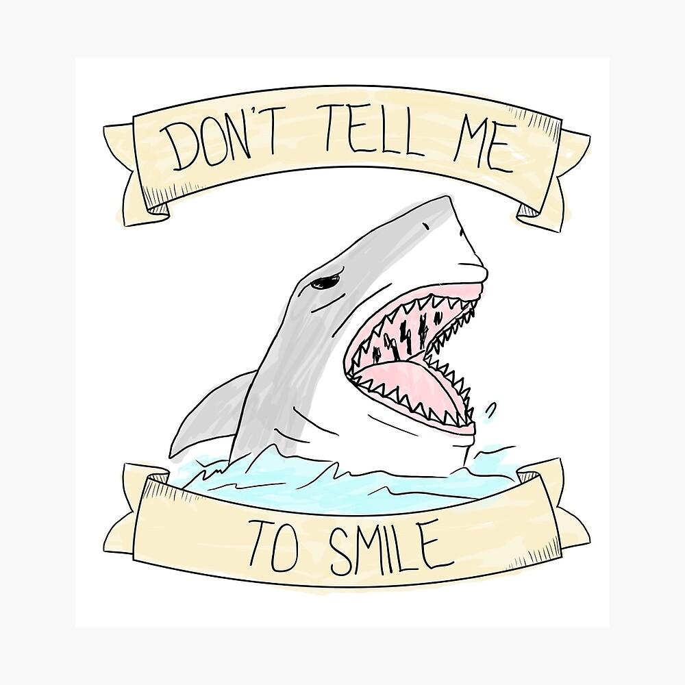 Sag mir nicht zu lächeln - Farbe Fotodruck