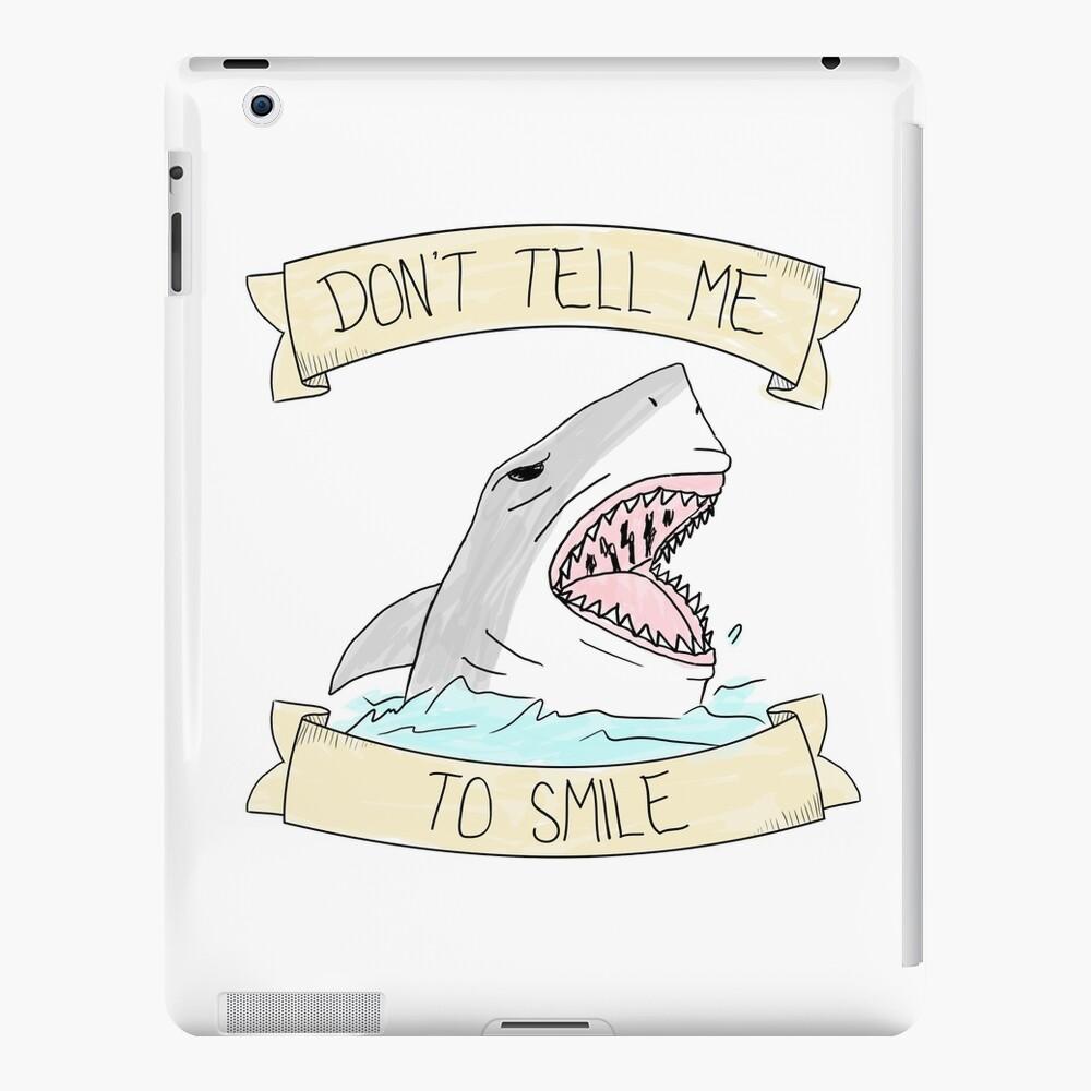 Sag mir nicht zu lächeln - Farbe iPad-Hülle & Skin