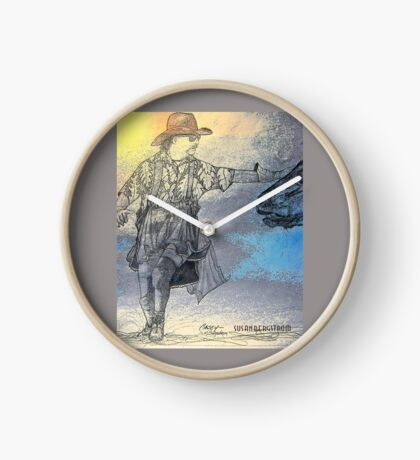 Casey~ Rodeo Clown Bull Fighter Clock