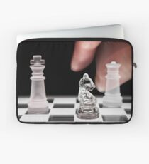 Chess 101: The knight moves to put the king in check Laptop Sleeve