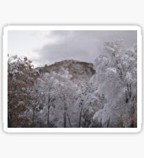 Housatonic snowstorm view Sticker