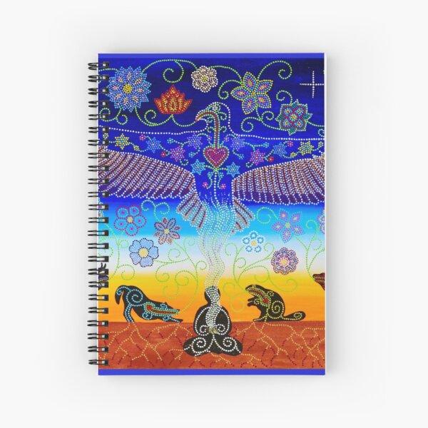 ᓇᓈᐢᑯᒧᐃᐧᐣ  ~ nanâskomowin ~ gratitude Spiral Notebook