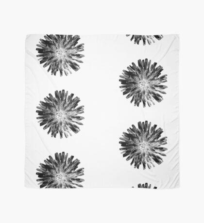 Black Dandelion on White Scarf