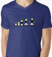 Evolution of lego man Men's V-Neck T-Shirt