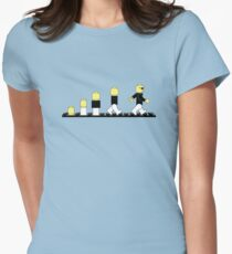 Evolution of lego man Women's Fitted T-Shirt