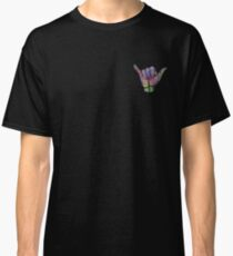 Rainbow Smoke Hang Loose Shaka Sign Classic T-Shirt
