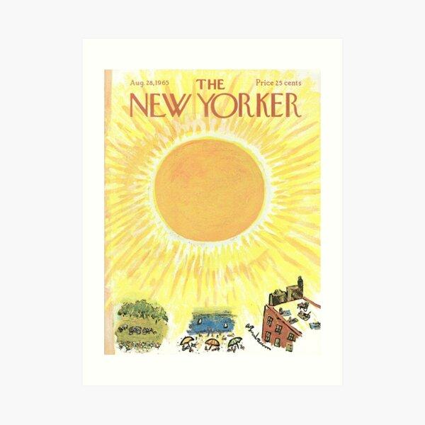 New Yorker Sun Yellow Art Print