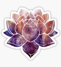Buddhist Lotus Flower Sticker
