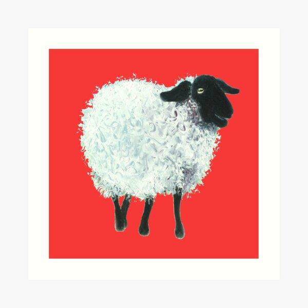 CANVAS Rambouillet Merino Sheep Art print POSTER