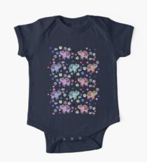 Elephants and Flowers on Black Kids Clothes