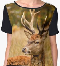 Richmond Deer Chiffon Top