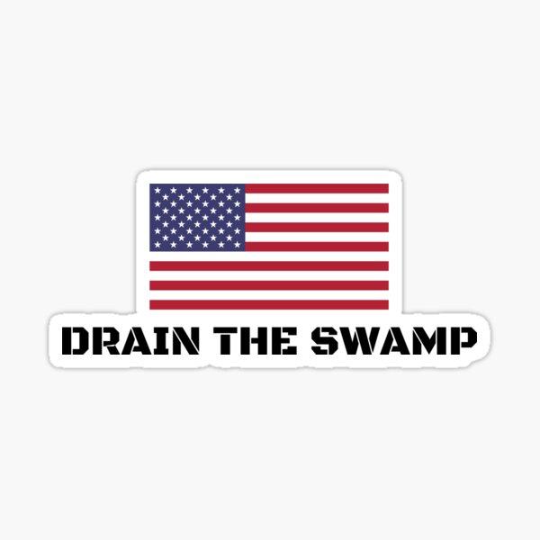 Drain The Swamp Donald Trump President 2016 Sticker