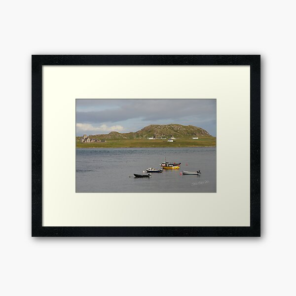 Iona Abbey from Fionnphort Framed Art Print