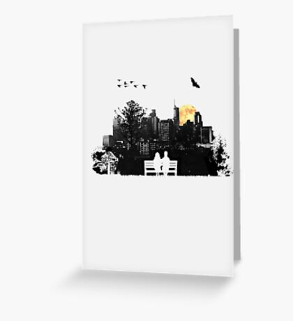 City Moonrise Greeting Card