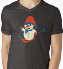 Skiing Snowman  T-Shirt