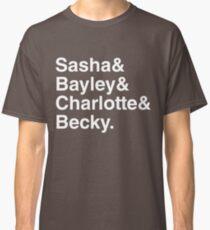 Helvetica List Four Horsewomen of NXT Classic T-Shirt