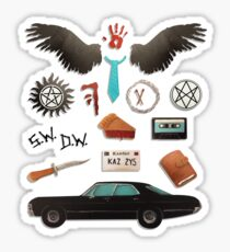 Supernatural Tattoo Painting & Mixed Media Stickers   Redbubble
