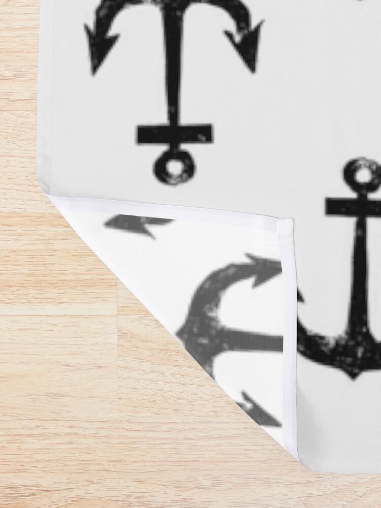 Alternative Ansicht von Anker | Anchor | Vintage | Schwarz Duschvorhang