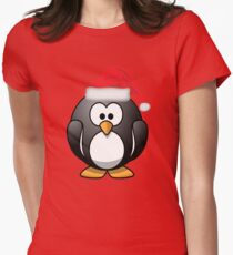 Christmas Penguin Shirt Womens Fitted T-Shirt