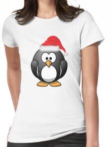 Christmas Penguin Shirt Womens Fitted T-Shirt