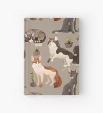 Cuaderno de tapa dura Patrón de gato