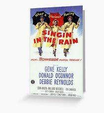 Singin' In The Rain Classic Movie Poster Greeting Card