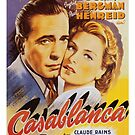 Casablanca Classic Movie Poster by Simon Gentleman