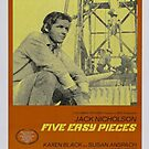 Five Easy Pieces Classic Movie Poster by Simon Gentleman