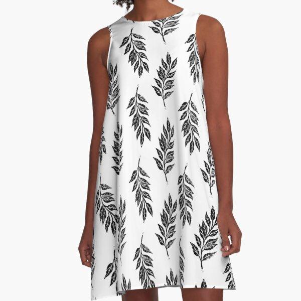 Blatt A-Linien Kleid