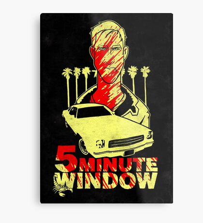 5 minute window Metal Print
