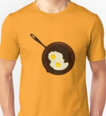 Fried Eggs in an Iron Skillet Unisex T-Shirt