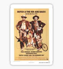 Butch Cassidy and the Sundance Kid Classic Movie Poster Sticker