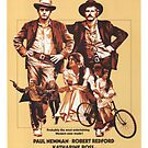 Butch Cassidy and the Sundance Kid Classic Movie Poster by Simon Gentleman