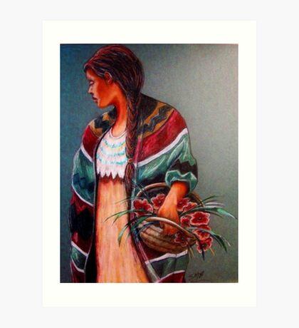 """""""The Flower Girl #2"""" Art Print"""