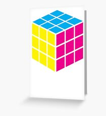 CMYK Cube Greeting Card
