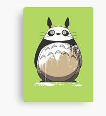 Totoro Painting Panda Canvas Print