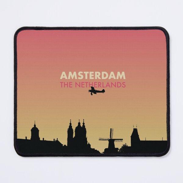 Amsterdam City Skyline Art - Netherlands Gift Mouse Pad