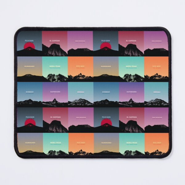Stunning Mountains Of The World - Adventure Gift Mouse Pad