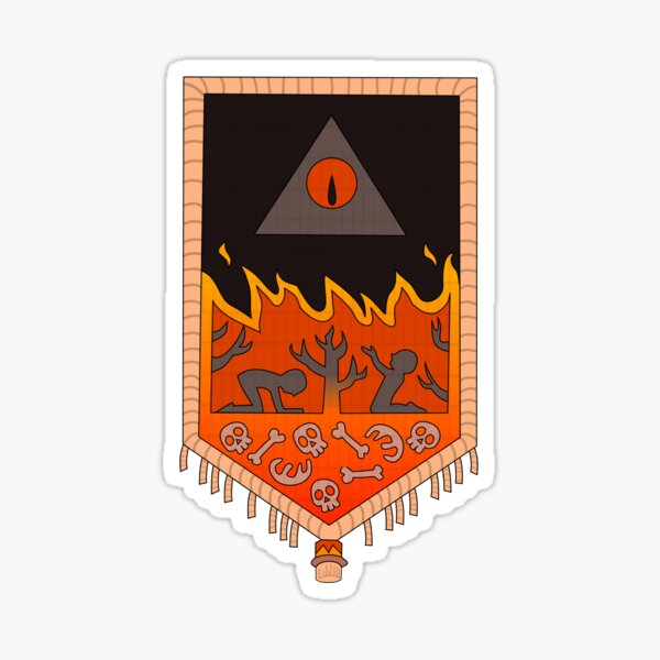 Bill Cipher Tapestry  Sticker