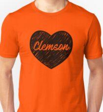 I Love Clemson University - I Heart Tigers  Unisex T-Shirt