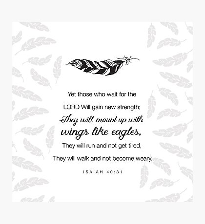 Like Wings on Eagles...Isaiah 40-31 Photographic Print