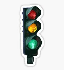 Traffic Lights Red Yellow Green Sticker