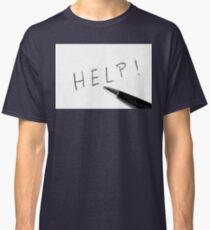 Pen Help Black White Classic T-Shirt
