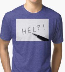 Pen Help Black White Tri-blend T-Shirt